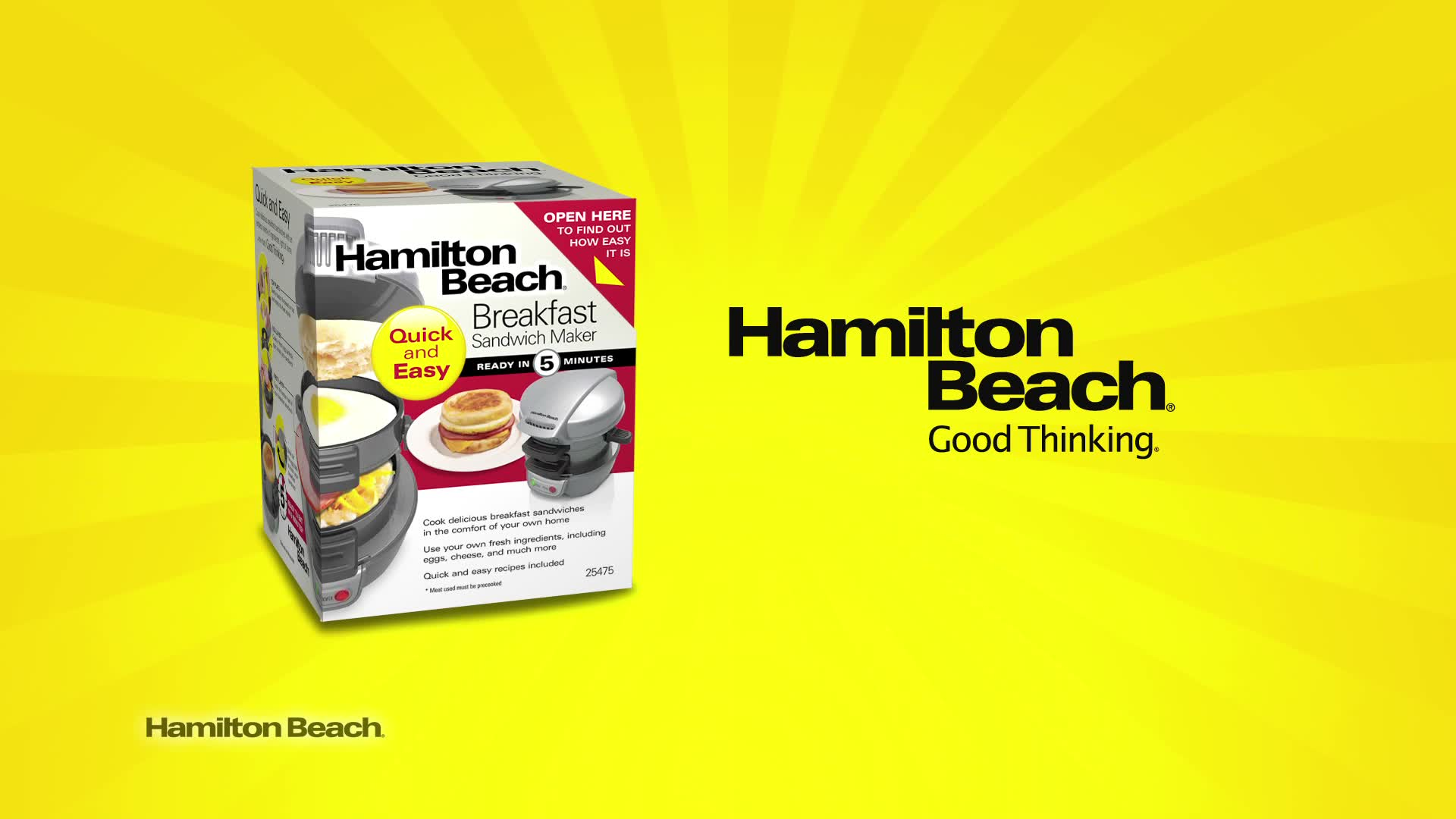 Hamilton Beach 174 Breakfast Sandwich Maker Bed Bath Amp Beyond