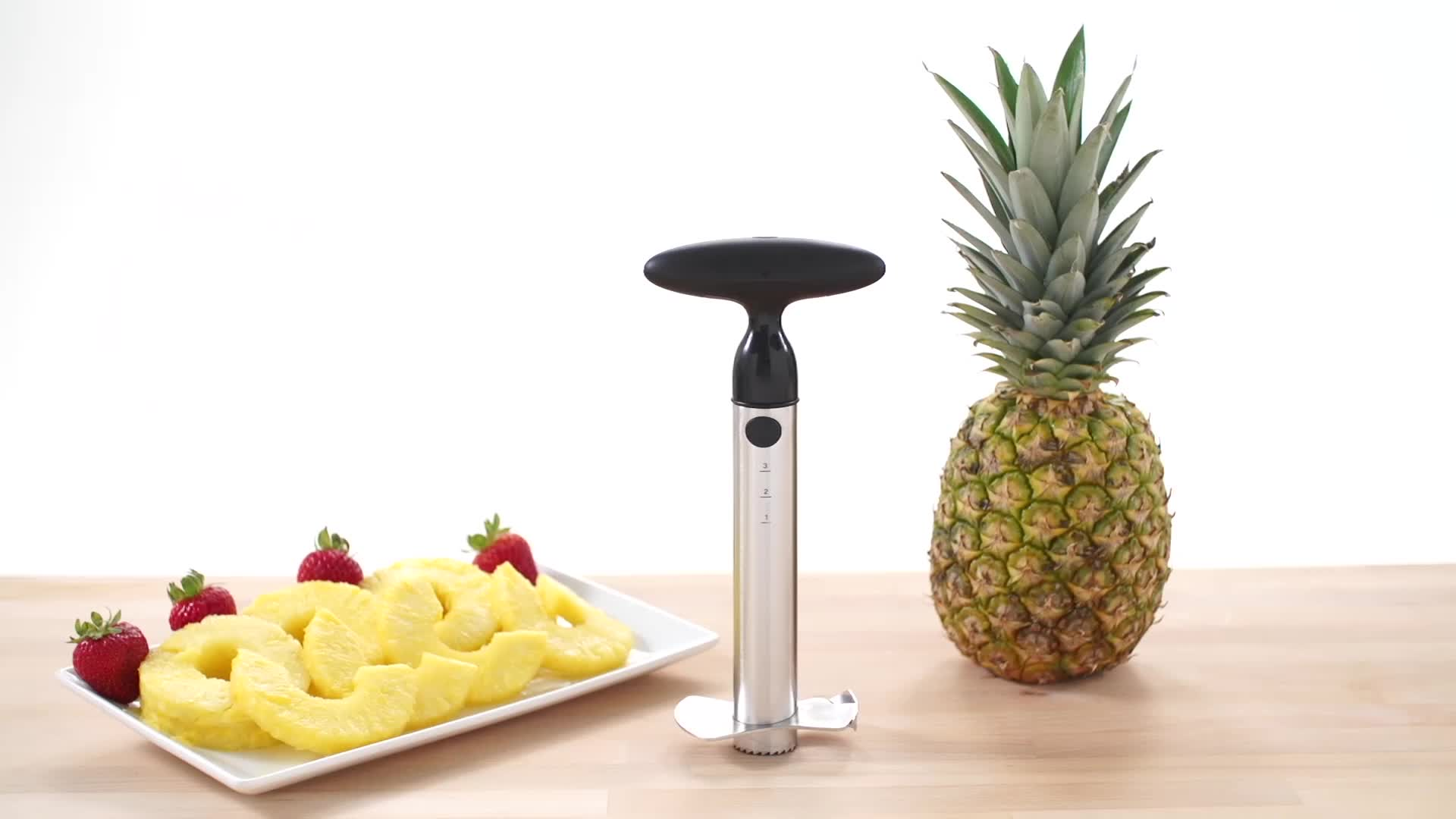 OXO Good Grips® Stainless Steel Ratcheting Pineapple Slicer - Bed ...
