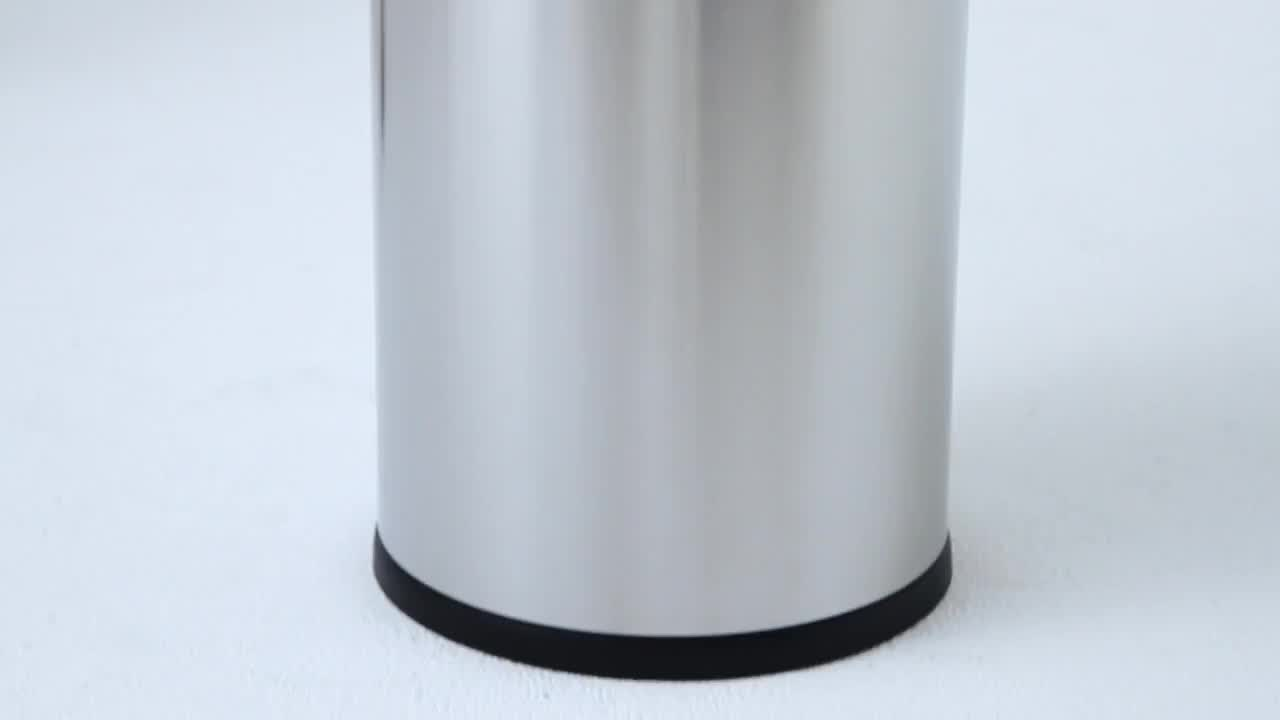 simplehuman® Brushed Stainless Steel Bullet Open 60-Liter Trash Can ...