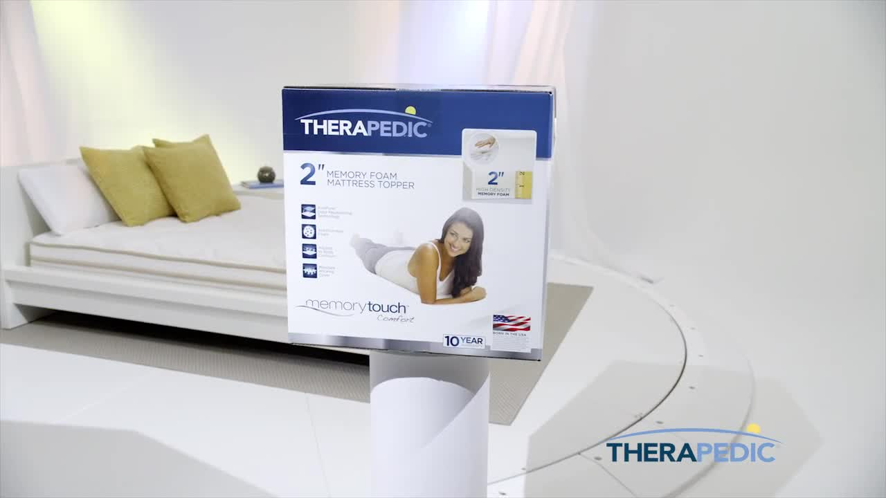 Therapedic 174 1 5 Inch Memory Foam Mattress Topper Bed