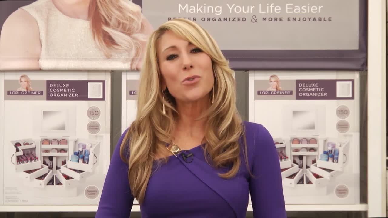 Lori Greiner Spinning Cosmetic Organizer in White Bed Bath Beyond