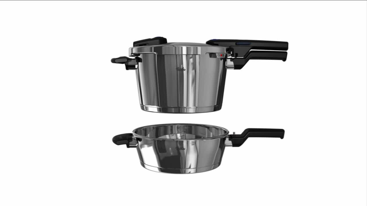 Fissler Vitaquick Pressure Cooker with Perforated Inset and Tripod ...