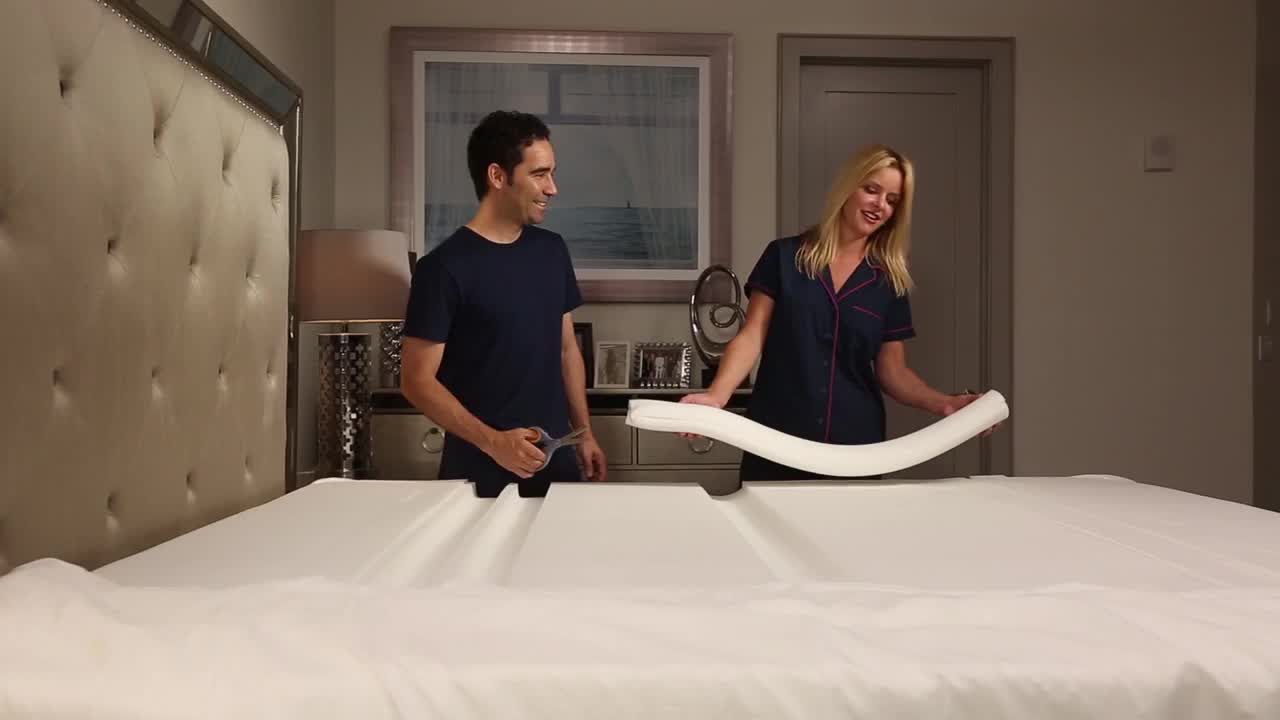 watch the video for the topper plus adjustable firmness mattress topper - Adjustable Firmness Mattress