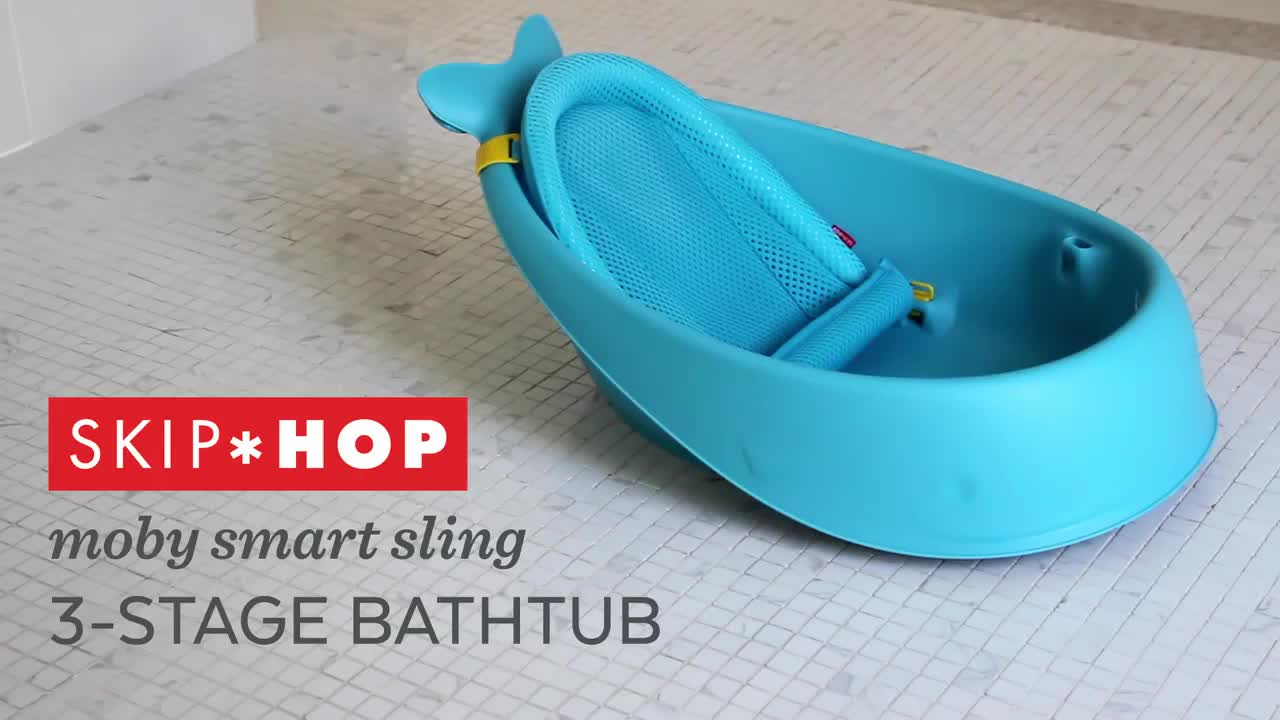 SKIP*HOP® Moby Smart Sling™ 3-Stage Tub in Blue - Bed Bath & Beyond