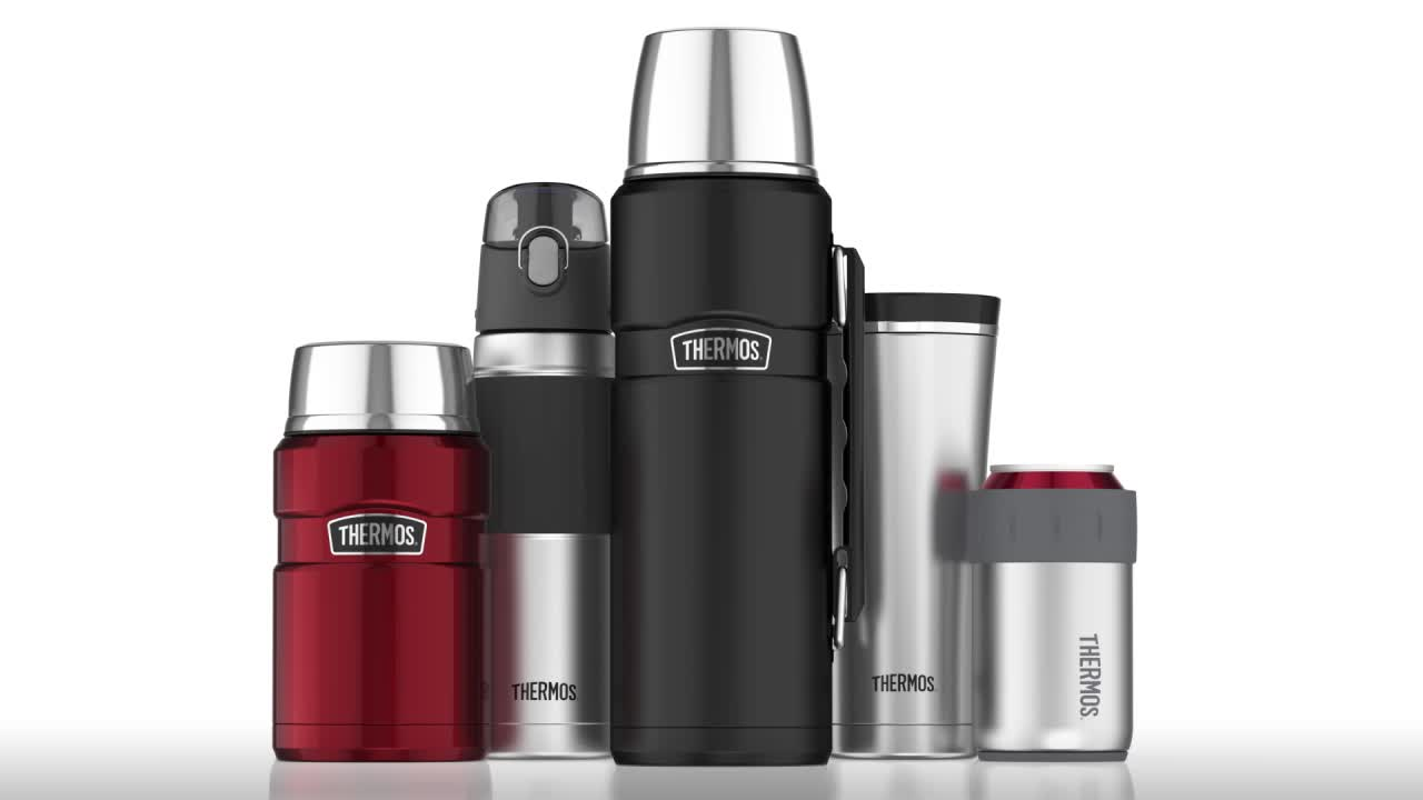 thermos stainless steel king 40 oz vacuum insulated travel tumbler bed bath beyond. Black Bedroom Furniture Sets. Home Design Ideas