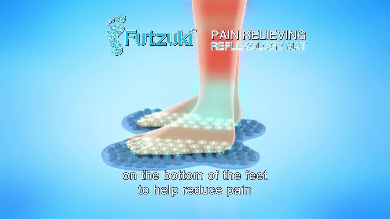 Futzuki Reflexology Foot Massage Mat In Blue Bed Bath