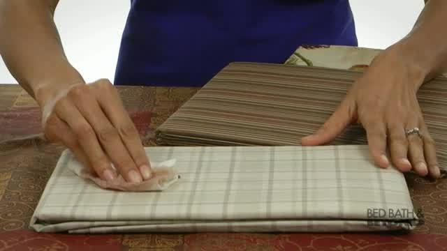 Watch The Video For Tuscan Stripe Laminated Fabric Tablecloth And Napkins