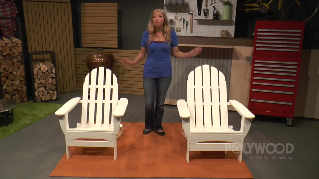 The essential guide to adirondack chairs one kings lane - Watch The Video For Polywood Reg Folding Adirondack Chair