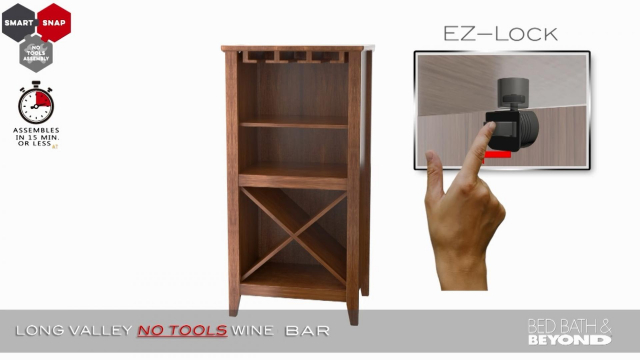 Long Valley No Tools Wine Bar Bed Bath Amp Beyond