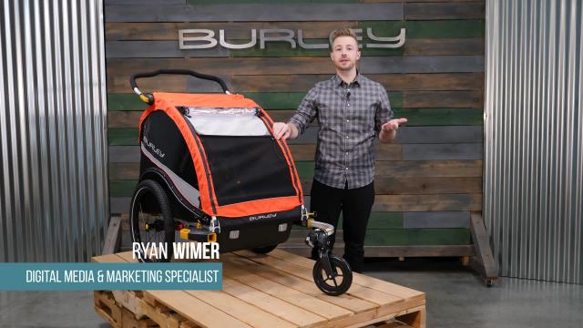 burley cub x bike trailer in red bed bath beyond. Black Bedroom Furniture Sets. Home Design Ideas