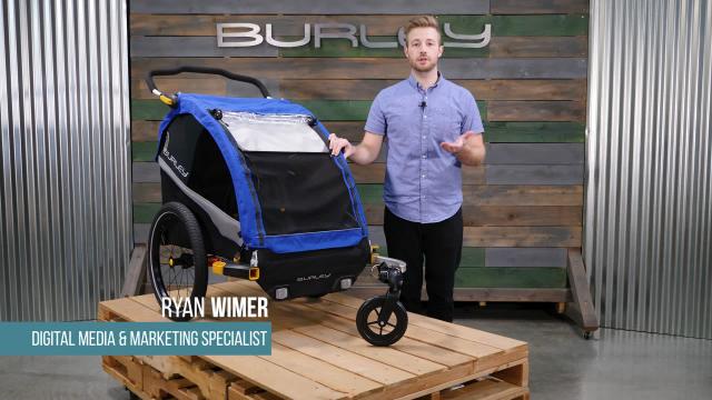 burley d 39 lite bike trailer in blue bed bath beyond. Black Bedroom Furniture Sets. Home Design Ideas