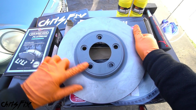 Painted Brake Rotors Chris Fix shows us how to install painted rotors