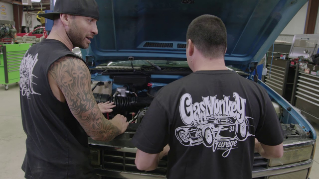 Gas Monkey Garage Changing the Alternator and Battery | Advance Auto Parts Gas Monkey Garage's Charles Cimino puts a new alternator and battery in a vehicle with the help of Charles Adams and Richard Rawlings.