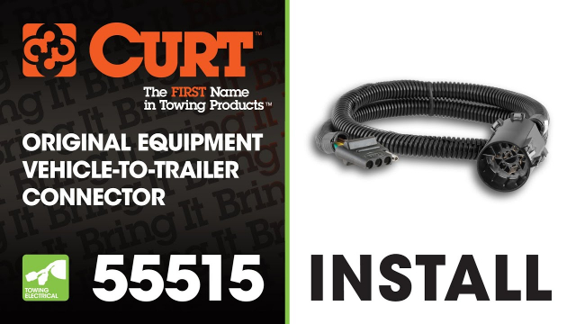 Trailer Wiring Install: CURT 55515 This video depicts the installation of the CURT 55515 original equipment vehicle-to-trailer connector.