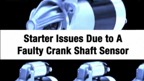 Starter Issues Due to a Faulty Crank Sensor Some GM vehicles from model years 1995 to the early 2000's will have trouble with slow or difficult cranking and damage to the starter.  This video highlights how to fix this problem on GM Vehicles.