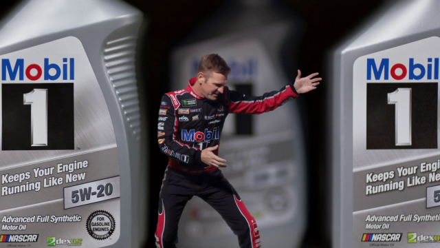 Mobil 1 Synthetic Oil Tiny Kevin Harvick is back and he wants to make sure drivers choose the right motor oil to protect their engines.