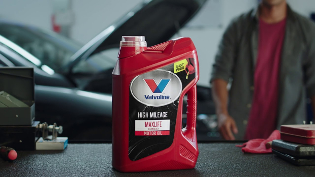 Valvoline Max Life High Mileage Motor Oil Introducing Valvoline MaxLife in the new Easy Pour bottle. It's repositioned handle, easy pull tab and spout, and anti-glug tube make delivering the ultimate protection your vehicle needs as smooth as can be. Visit teamvalvoline.com for more.