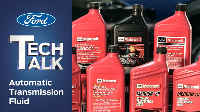 Automatic Transmission Fluid | Ford Tech Talk Check out the Motorcraft lineup of automatic transmission fluids and find out what makes them the optimal choice for your Ford, Lincoln or Mercury vehicle.  Ford has seven different fluids for automatic transmissions and each one is tuned to the specific characteristics of the transmission in your car or truck. Find out all of the jobs this complex fluid is responsible for and why using the right fluid is crucial to the health of the transmission in your Ford, Lincoln or Mercury vehicle.