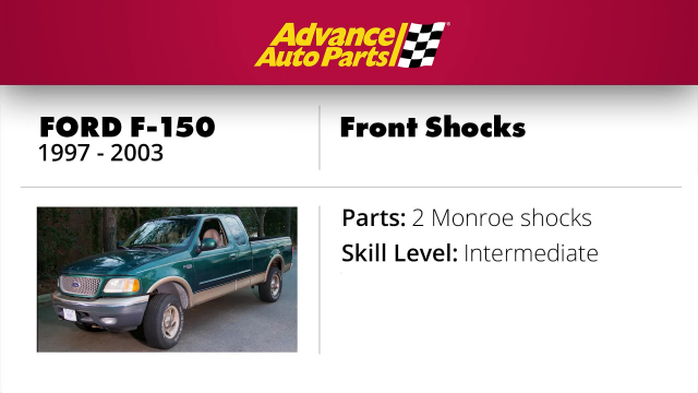 F-150 Front Shocks Replacement Learn how to replace front shocks on a 1997 - 2003 Ford F-150.