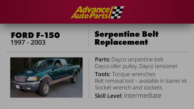 F 150 Serpentine Belt Replacement