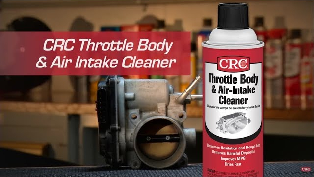 CRC Throttle Body & Air Intake Cleaner Instructional Video The throttle body in the air intake system controls the air that flows into the engine.  The amount of air depends on the position of the gas pedal.  If you press the pedal harder then the throttle plate opens wider to give the engine more air, resulting in more power and increased speed.
