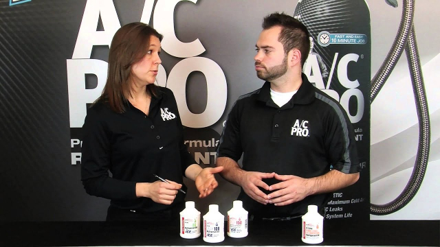 Which A/C Refrigerant Oil should I use? Your car's air conditioning system requires PAG oil for lubrication. The exact type of oil needed is determined by the type of A/C compressor in your car.
