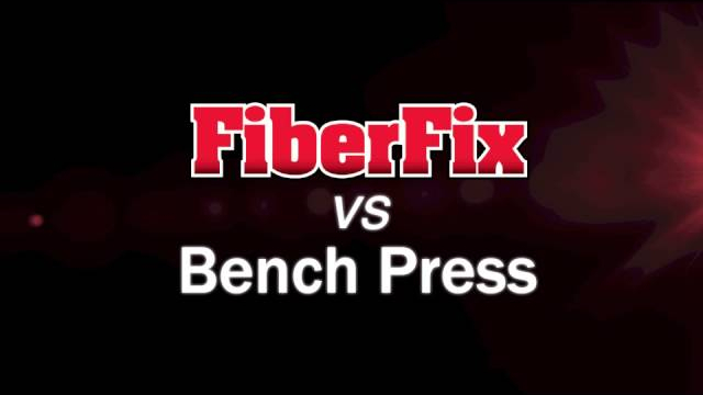 FiberFix vs. Bench Press The worlds ridiculously strong repair wrap. You can use FiberFix to fix anything...don't believe us? Check out this awesome video!