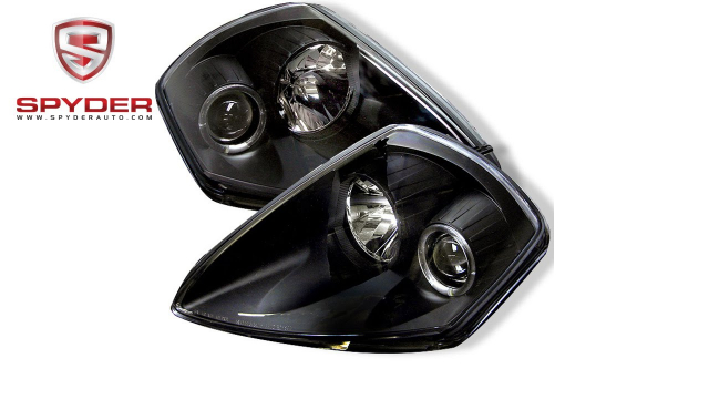 Spyder - Mitsubishi Eclipse 00-05 Projector Headlights - LED Halo - Black -  Video | Advance Auto Parts
