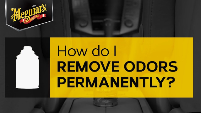 Ask Meguiar's: How do I remove odors permanently? Do you have a bad odor in your car that you want to get rid of? Use one of Meguiar's Whole Car Air Re-Freshers to refresh your ride!