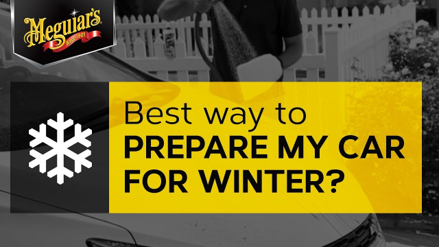 Ask Meguiar's: What's the Best Way to Prepare My Car for Winter? Winter's approaching and the number of warm days are becoming fewer. The best thing you can do is wash your car using quality car wash, then apply a good coat of wax or polymer sealant to ensure you have extra protection on the paint before winter hits.