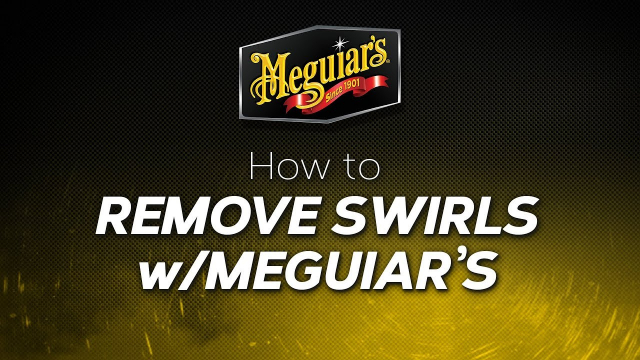 How to: Remove Swirls with Meguiar's Having swirls is one of the biggest concerns that everyone deals with at some point. Ultimate Polish Pre-Waxing Glaze is the perfect solution for removing fine swirls and towel marks while Ultimate Compound removes more noticeable swirls. Both products remove swirls in shiny paints and clear coats without micro marring or hazing, and bring up a high gloss making your paint look its best.