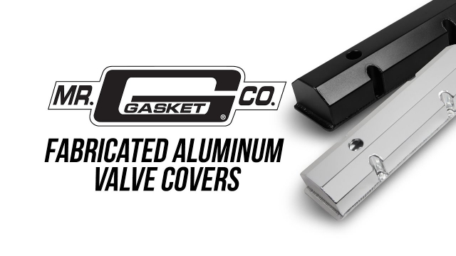 """Mr. Gasket Fabricated Valve Covers The quickest way to add that race car touch to your engine compartment is with these killer looking MR. GASKET fabricated valve covers! Not only are these valve covers affordable, they are lightweight and made to last. Constructed of 6061 T5 sheet aluminum and precision TIG welded, they have a ¼"""" inch thick 1 piece mounting flange ensuring a flat mating surface for a leak-free seal."""