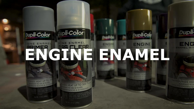 Dupli-Color Engine Enamel How-To Video Want to refinish your old engine for a brand new style? Here's the step-by-step process for putting down fresh color on your engine block with Dupli-Color Engine Enamel. From primer to color to clear, the Engine Enamel line has everything you need to repaint your engine with the heat protection it needs.