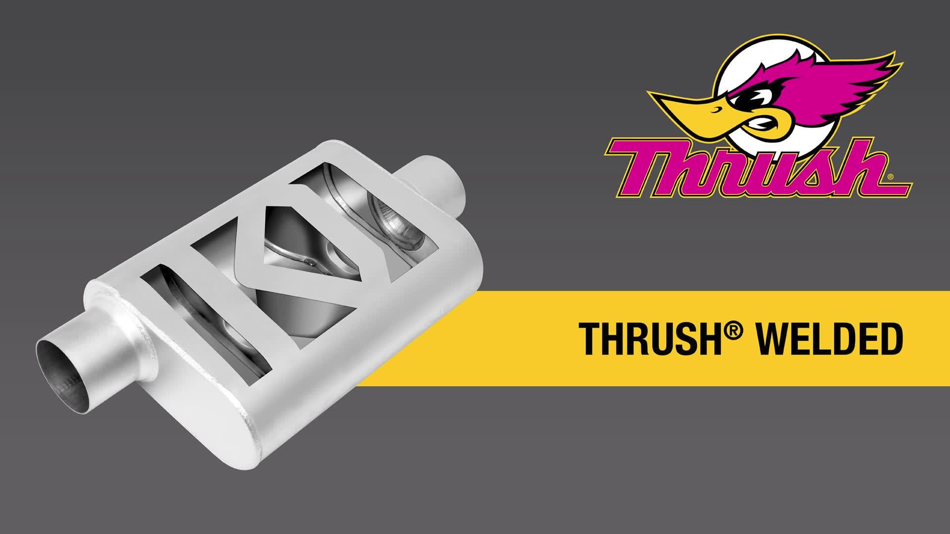 Thrush Welded Muffler Sound Thrush Welded Muffler on a 2010 Camaro