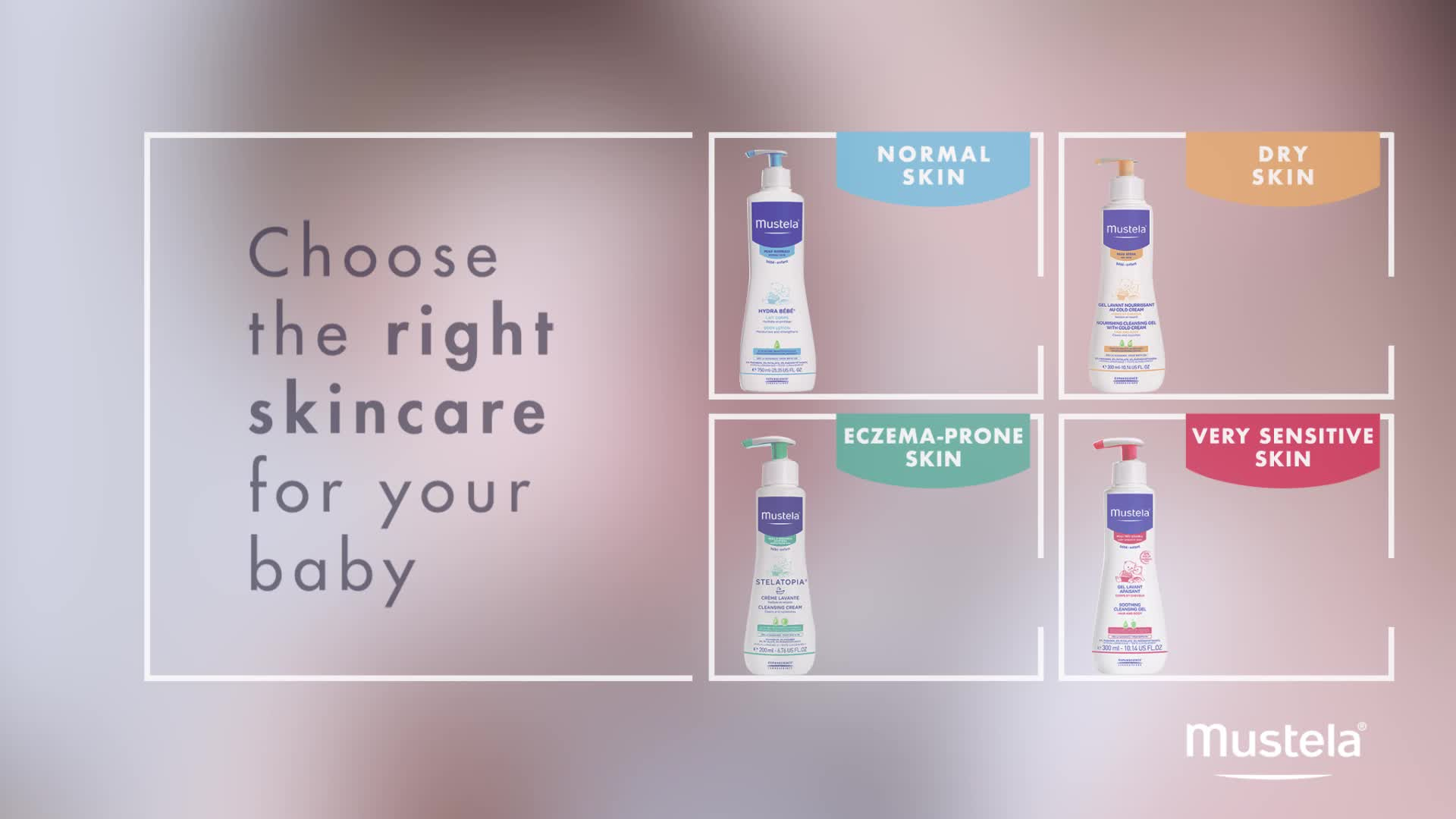 Mustela Baby Skin Different Types