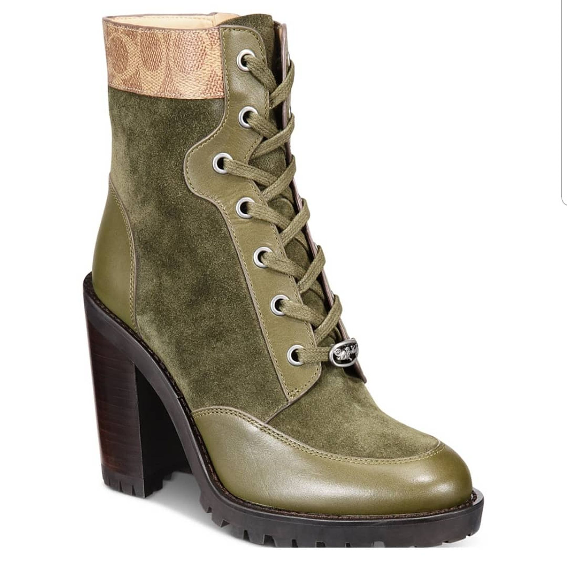 VINTAGE OLIVE GREEN COACH BOOTS - Macys