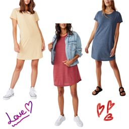 The Most Comfiest And Cute T Shirt Dress On Sale Hello Spring Macys Style Crew