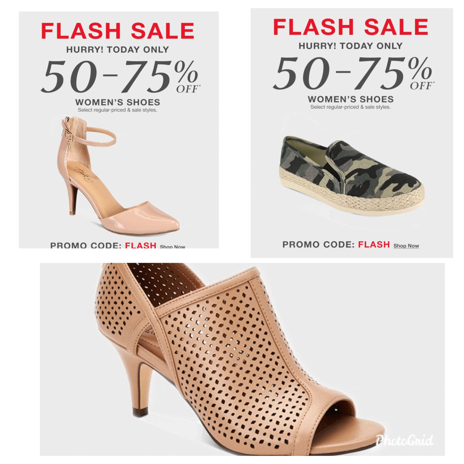 Flash sale 50% to 75% off Store Wide