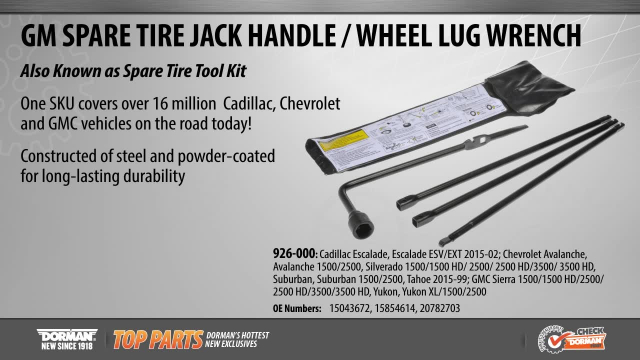 GM Spare Tire Jack Handle Wheel Lug Wrench