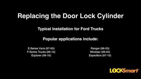How To Install A Door Lock Cylinder In A 1995 2011 Ford Truck AutoZone