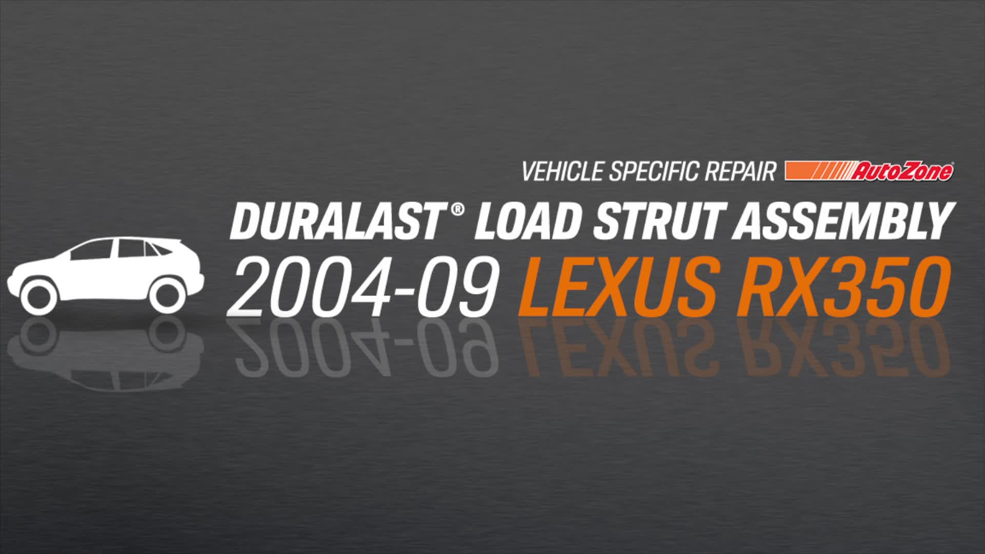 How to Replace Struts on a Lexus RX 350 - AutoZone