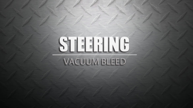 Vacuum Bleed Your Power Steering Pump