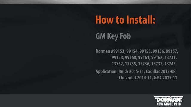 How to Program Dorman's GM Key Fobs - 2010s Vehicles