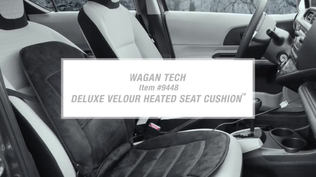 Deluxe Velour Heated Seat Cushion Features and Demo