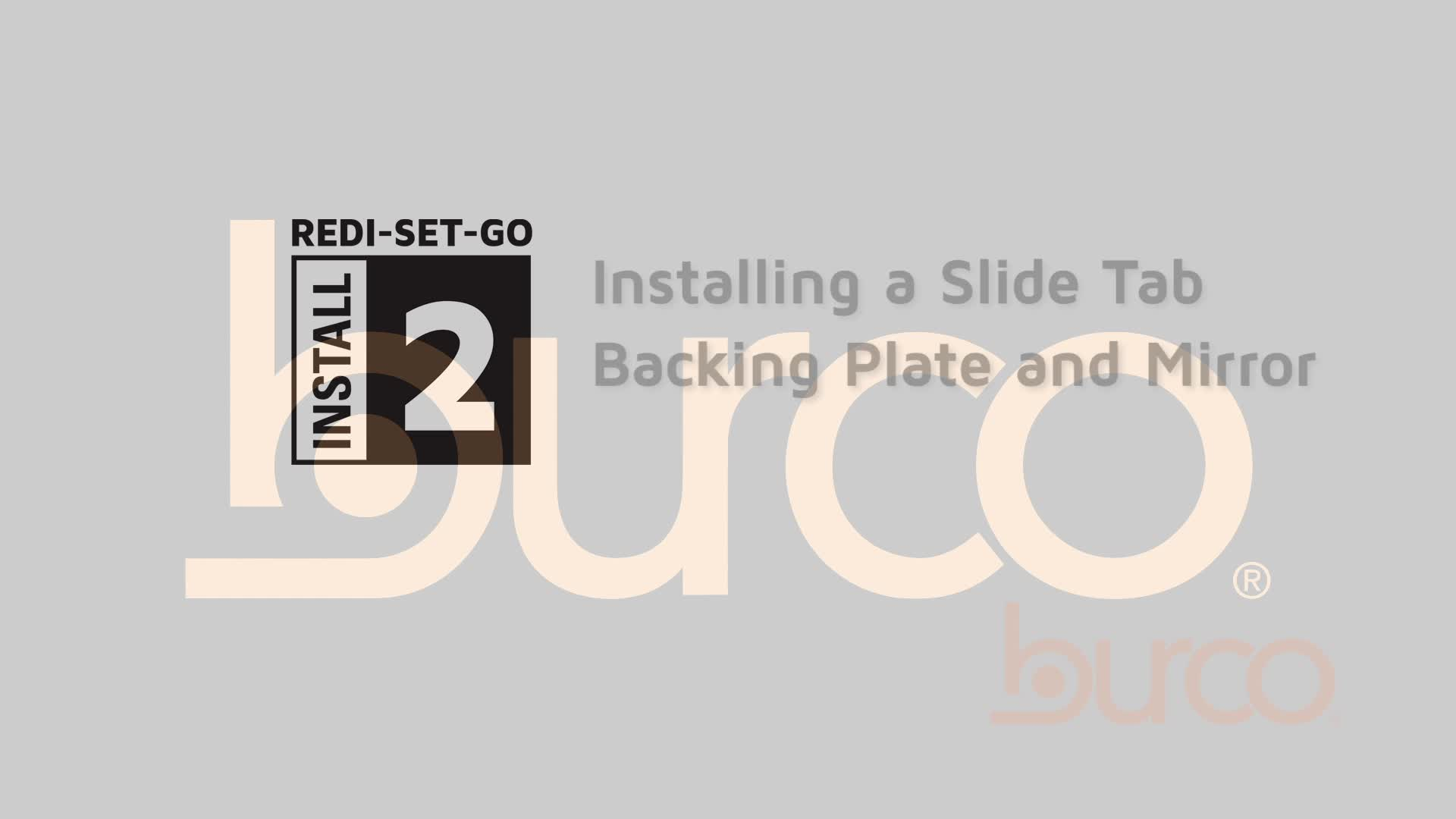 Installment of a Slide Tab Backing Plate and Mirror