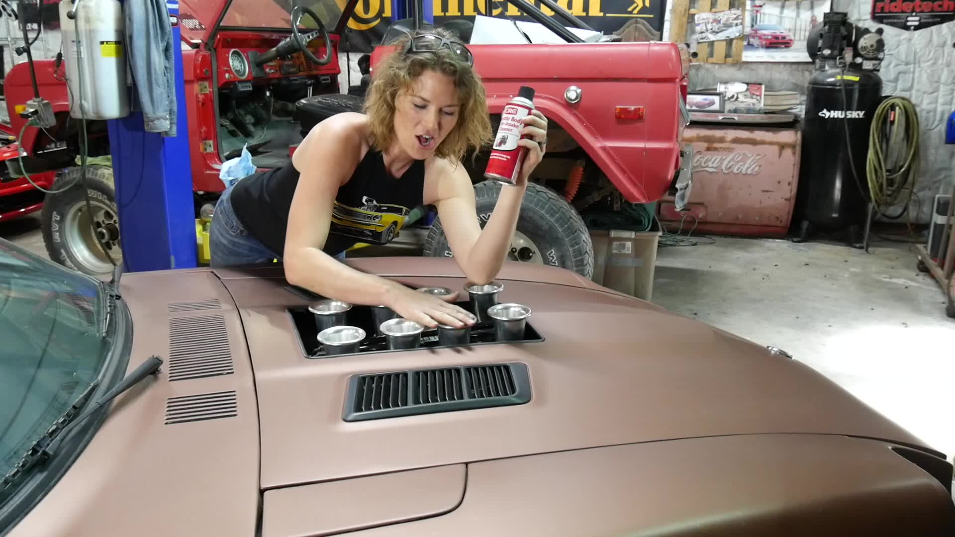 Using CRC Throttle Body & Air-Intake Cleaner on a 1978 Datsun