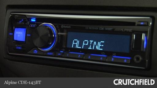 Video Demo Of The Alpine Cde 143bt Cd Receiver