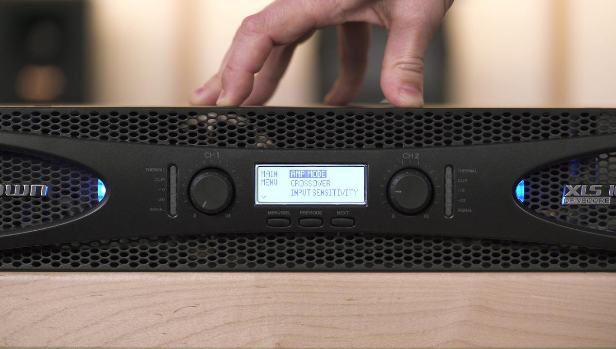 Crown XLS 1002 DriveCore™ 2 Series power amplifier — 215W x 2 at 8