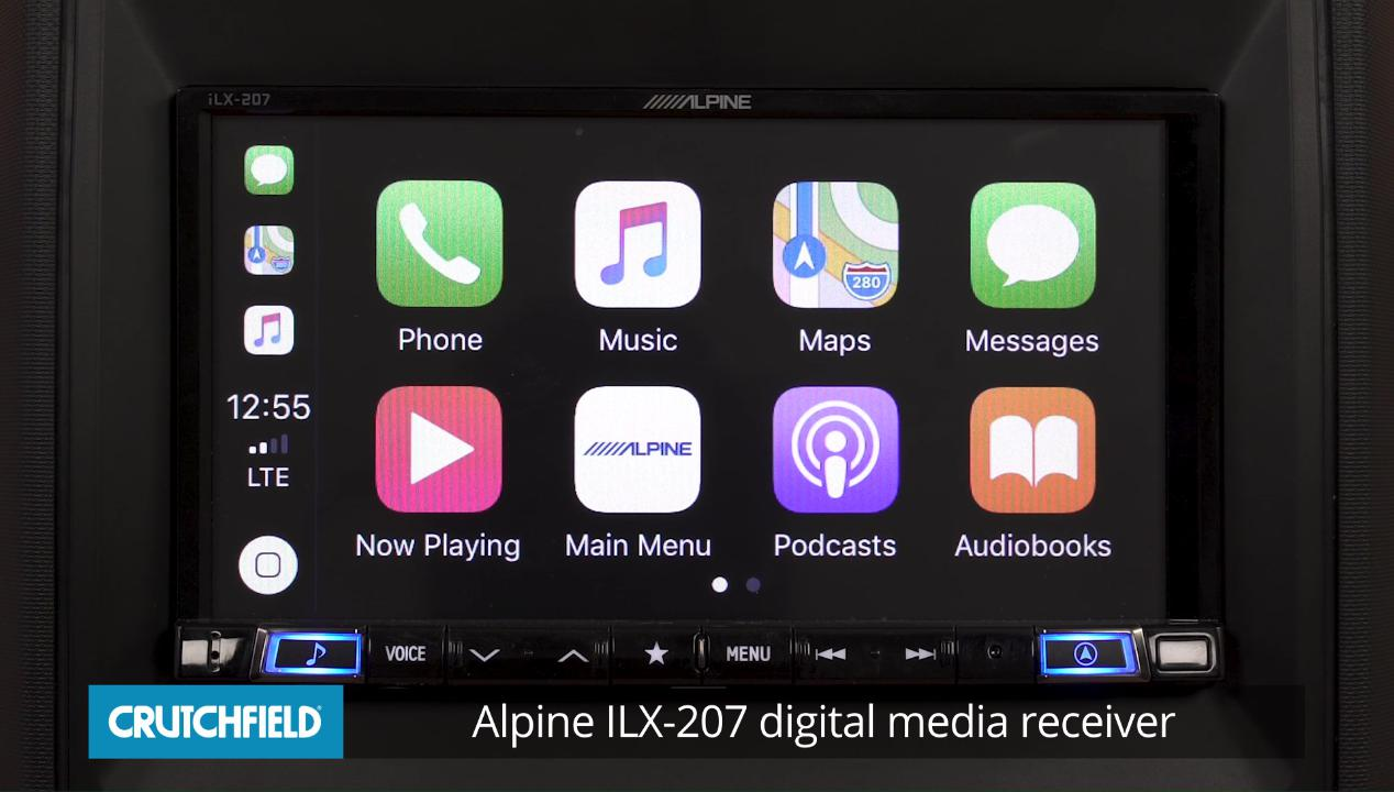 alpine ilx-207 digital multimedia receiver with android auto™ and apple  carplay� (does not play cds) at crutchfield