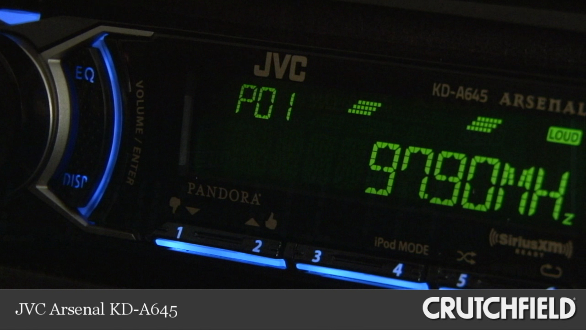 JVC KD-A645 Aresenal CD Receiver front auxiliary and usb input KDA645B